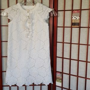 Kate Spade 8 white short sleeve girls tunic dress